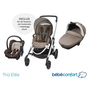 Bébé Confort Eléa (2017) - Combiné Trio avec poussette, nacelle et siège auto groupe 0+