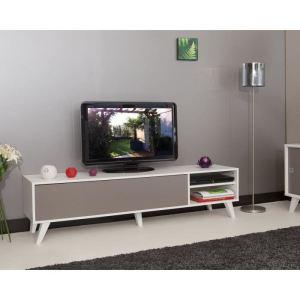 Meuble TV Olso avec 2 niches et 2 espaces en bois