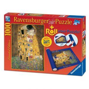 Ravensburger Le Baiser, Klimt + Tapis de puzzle - Puzzle 1000 pièces