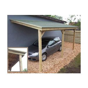Gardenas cpbru carport adoss bruges 1 voiture en pin 15 for Comparateur garage voiture