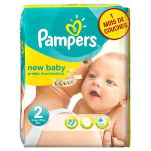 Pampers New Baby taille 2 Mini (3-6 Kg) - Pack économique x 240 couches