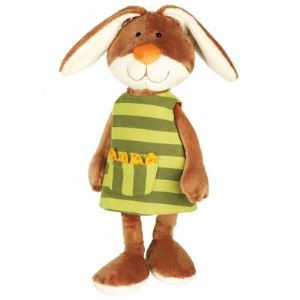 Sigikid Peluche Sweety : Lapin avec robe réversible 40 cm