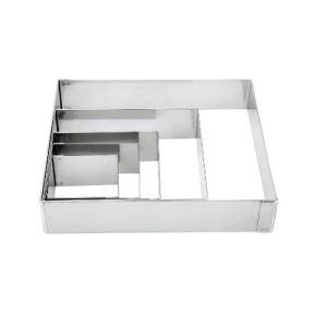Lacor 68411 - Cercle carré pour pâtisserie (10 x 10 cm)