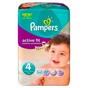 Pampers Active Fit taille 4 Maxi (7-18 kg) - 22 couches