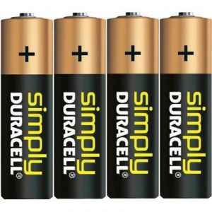 Duracell 4 piles alcalines AA LR06 1.5V Simply