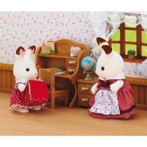 Epoch Sylvanian Families 2204 - Fillette lapin chocolat dans son bureau