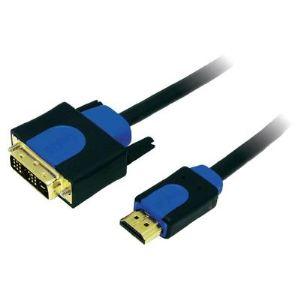 Logilink CHB3101 - Câble adaptateur HDMI mâle / DVI-D mâle 1 m
