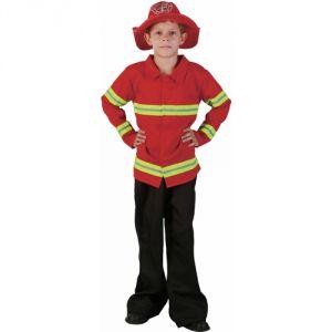 Ptit Clown Déguisement pompier luxe enfant rouge et noir