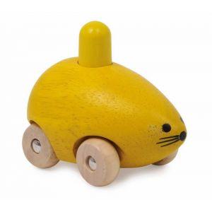Legler Petite voiture souris en bois avec couineur Cid