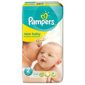 achat pampers new baby taille 2 mini 3 6 kg pack bonus 44 couches. Black Bedroom Furniture Sets. Home Design Ideas
