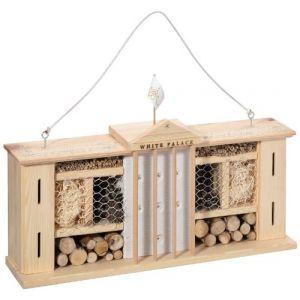 Luxusinsektenhotels Weisser Palast Hôtel à insectes avec système de fixation simple