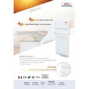 Airelec A692335 - Sèche-serviettes Lilou digital 1500 Watts