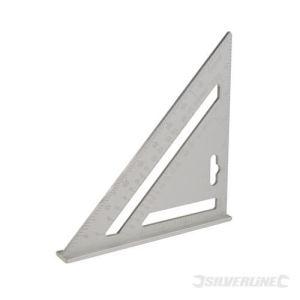 Silverline 734100 - Équerre de charpentier en alliage d'aluminium 185 mm