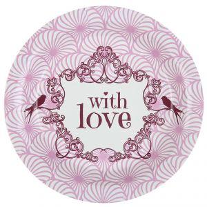 """Santex 4786 - 10 assiettes vintage """"With Love"""""""