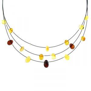 Rêve de diamants COBA01017 - Collier en argent 925/1000 et ambre véritable