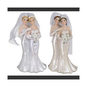 Figurine couple de mariés femmes (10 cm)