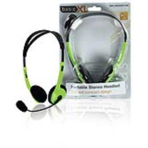 Basic XL BXL-HEADSET1GR - Casque-micro stéréo filaire 2m