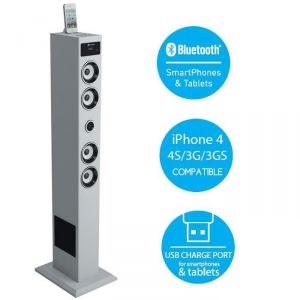 SoundVision Soundtower20 - Station d'accueil tour 2.1 Bluetooth pour iPod/iPhone/iPad 60W rms
