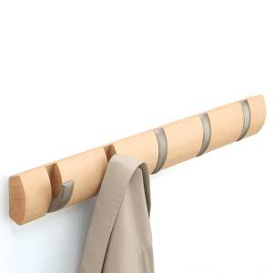 Umbra Patère à crochet rétractable en bois
