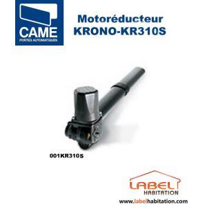 Came 001KR310S - Motoréducteur Krono irréversible gauche avec fin de course battants 3 m vantail 230V