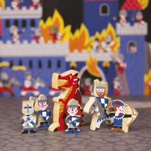Janod Figurines en bois Mini Story Chevaliers