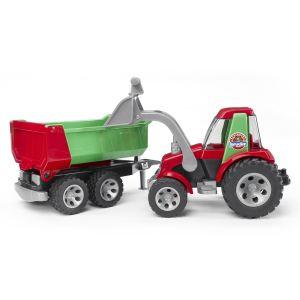 Bruder Toys 20116 - Tracteur avec pelle frontale et remorque basculante