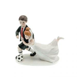 Chaks 80164 - Figurine en résine Couple de mariés footballeur attrapé (16 cm)