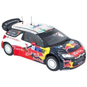 Norev 181555 - Citroën DS3 WRC Vainqueur Rally du Mexique 2011 - Loeb/Elena - Echelle 1:18