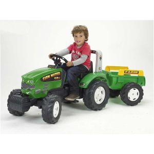 Falk 1071B - Tracteur à pédales Farm Master 950X et remorque
