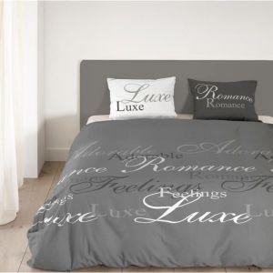 Good Morning Romance - Housse de couette et 2 taies 100% coton (220 x 240 cm)