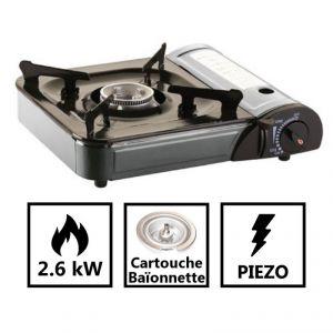 Kemper Réchaud gaz camping portable allumage piezo