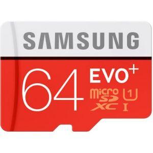 Samsung MB-MC64DA - Carte mémoire Evo+ microSDXC 64 Go Class 10 avec adaptateur