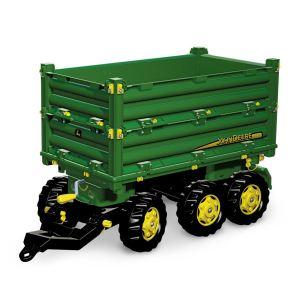 Rolly Toys Remorque Multitrailer John Deere pour tracteur à pédales