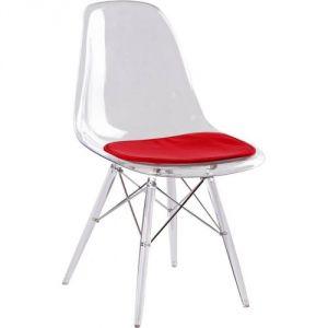 Chaise transparente rouge comparer 53 offres - Chaise eames transparente ...