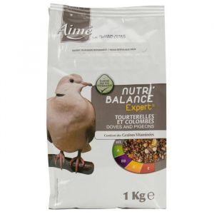 Aimé Nutri'balance Expert - Mélange de graines pour tourterelles et colombes 1 kg