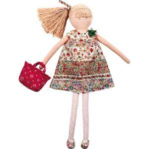 Trousselier Grande poupée robe à fleurs rouges (50 cm)