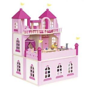 Goki 51772 - Château de poupées 2 niveaux avec annexe