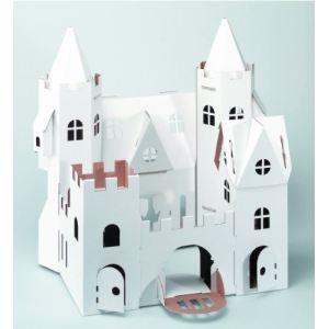 Calafant Château de princesse en carton à monter et colorier