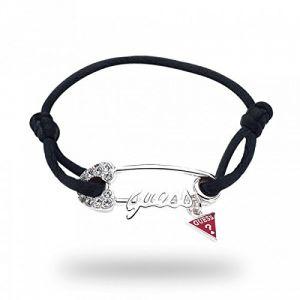 Guess UBB80942 - Bracelet ajustable pour femme en cuir et métal argenté