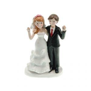 Chaks 80179 - Figurine en résine Couple de mariés Diamants (17 cm)