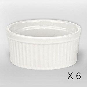 Revimport 6 ramequins en porcelaine (9 cm)