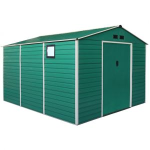 Hangar de jardin en métal 340x382xh225cm green xxl-plus