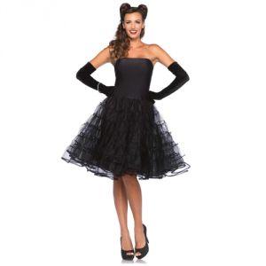 Déguisement robe noire années 50 femme