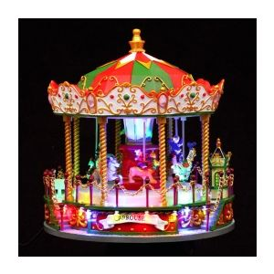 Nicolas - Village de Noël lumineux Carrousel