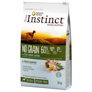 True instinct Croquettes pour chats No Grain Medium-Maxi au saumon 12 kg