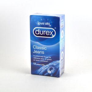 Durex 12 préservatifs Classic jeans
