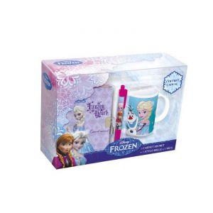 Polymark Coffret cadeau (1 carnet secret + 1 mug + 1 stylo) La Reine des Neiges