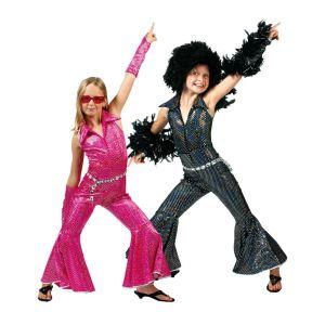 Combinaison disco noire enfant (4 à 10 ans)