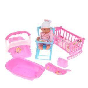 Loko Toys Coffret complet poupon et 6 accessoires