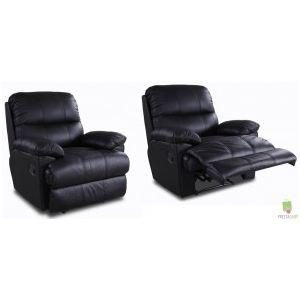 2 fauteuils Relax en cuir